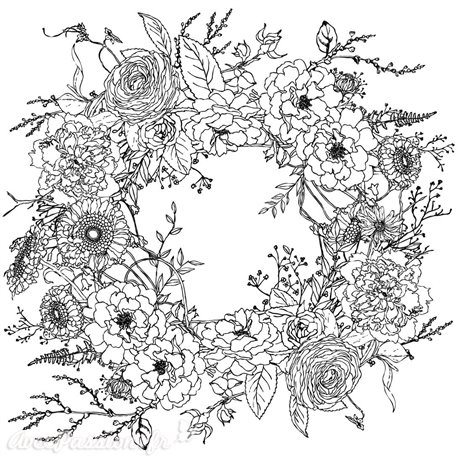 Transfertpelliculable Iron Orchid Designs IOD Winter's Song Wreath
