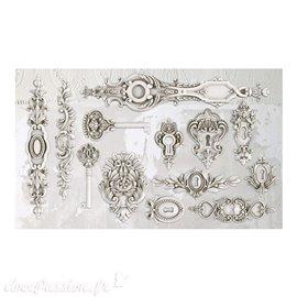 Moule décoratif IOD Iron Orchid Designs en silicone Lock and Key