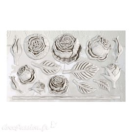 Moule décoratif IOD Iron Orchid Designs en silicone HEIRLOOM ROSES