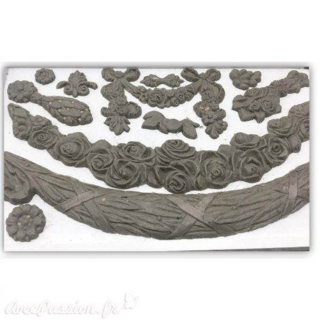 Moule décoratif IOD Iron Orchid Designs en silicone swags