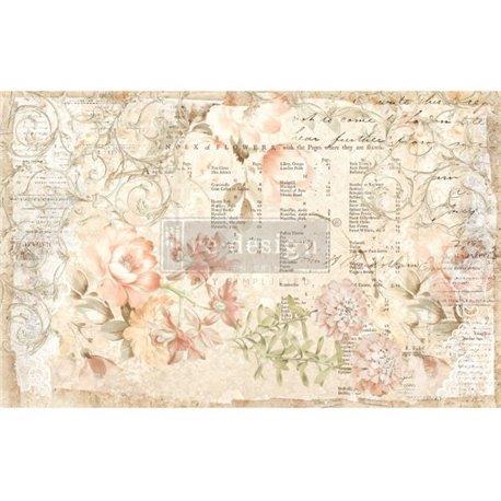 Papier de murier mulberry imprimé Redesign 48x76cm Floral Parchment