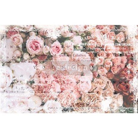 Papier de murier mulberry imprimé Redesign 48x76cm Angelic Rose Garden