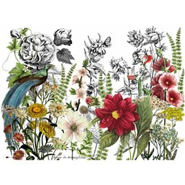 Transfert pelliculable IOD  Iron Orchid Designs Midnight Garden 61x84cm
