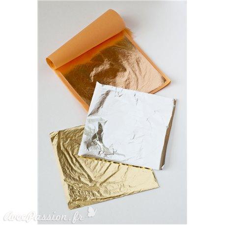 Carnets de feuilles de métal Transfert Laiton pour grandes surfaces