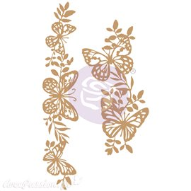 Embellissements en bois Chipboard Butterfly Borders Prima Marketing