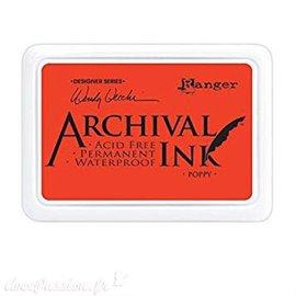 Tampon encreur Archival Ink Ranger poppy