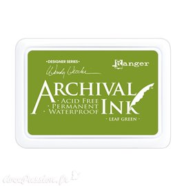 Tampon encreur Archival Ink Ranger Leaf green