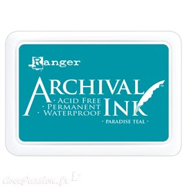 Tampon encreur Archival Ink Ranger Paradise teal