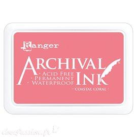 Tampon encreur Archival Ink Ranger Coastal coral