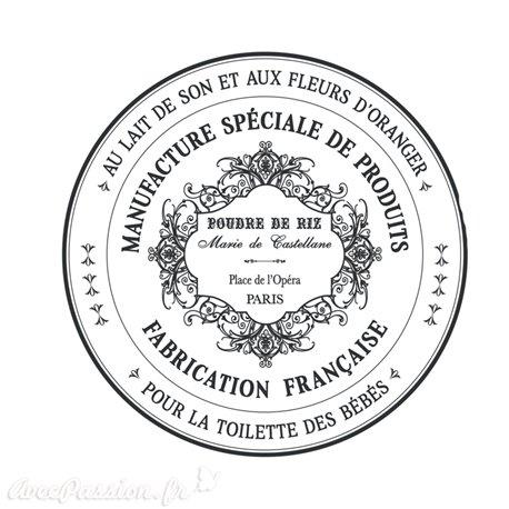 Transfert pelliculable Amatxi fabrication française Poudre de riz
