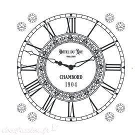 Transfert pelliculable Amatxi fabrication française Horloge rétro 38cm