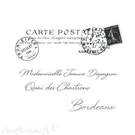 Transfert pelliculable Amatxi fabrication française Carte postale 38x47cm