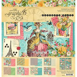 Papier scrapbooking assortiment Graphic 45 Ephemera Queen 30x30 16fe