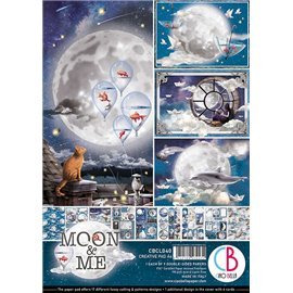 Papier scrapbooking A4 assortiment Ciao Bella Moon & Me 9fe