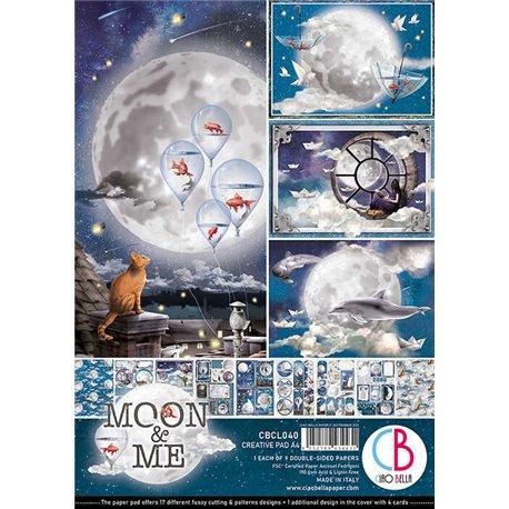 Papier scrapbooking A4 assortiment Ciao Bella Moon & Me 9fe