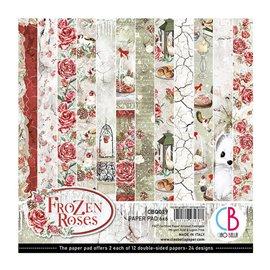 Papier scrapbooking 15x15 assortiment Ciao Bella Frozen Roses12f
