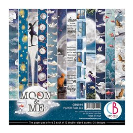 Papier scrapbooking 15x15 assortiment Ciao Bella Moon & Me12f
