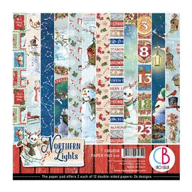 Papier scrapbooking 15x15 assortiment Ciao Bella Northern Lights12f