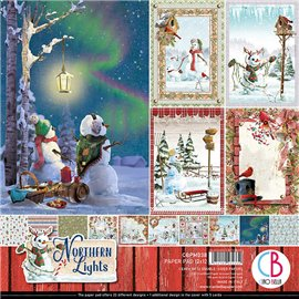 Papier scrapbooking assortiment Ciao Bella Northen lights 12fe 30x30