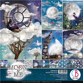 Papier scrapbooking assortiment Ciao Bella Moon & Me12fe 30x30