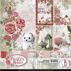 Papier scrapbooking assortiment Ciao Bella Frozen Roses 12fe 30x30