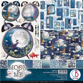 Papier scrapbooking assortiment Ciao Bella Moon & Me 8fe 30x30