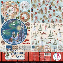 Papier scrapbooking assortiment Ciao Bella Northen Lights 8fe 30x30