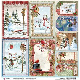 Papier scrapbooking réversible Ciao Bella Northern Lights Cards 30x30