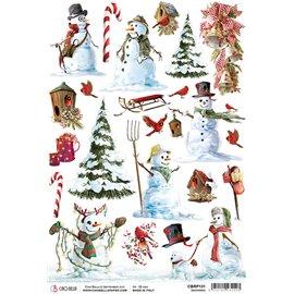 Papier de riz Ciao Bella 22x32cm Snowmen