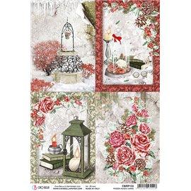 Papier de riz Ciao Bella 22x32cm Frozen Roses Cards