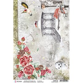 Papier de riz Ciao Bella 22x32cm Frozen Garden