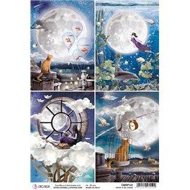 Papier de riz Ciao Bella 22x32cm Moon & Me Cards