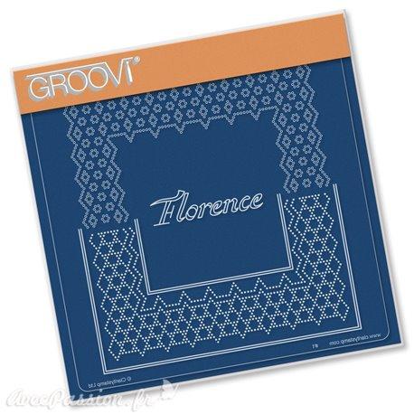 Groovi gabarit parchemin italian cities diagonal Florence 15x15cm