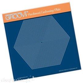 Groovi gabarit parchemin hexagone 15x15cm