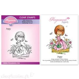 Tampon Pergamano Marina Fedotova clear stamps Poppy