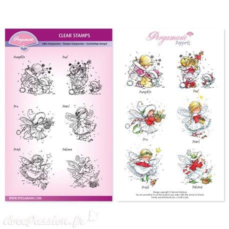 Tampons Pergamano Marina Fedotova clear stamps x6 Christmas