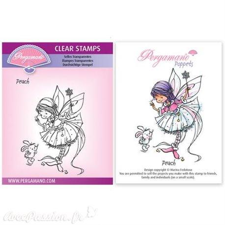 Tampon Pergamano Marina Fedotova clear stamps Peach