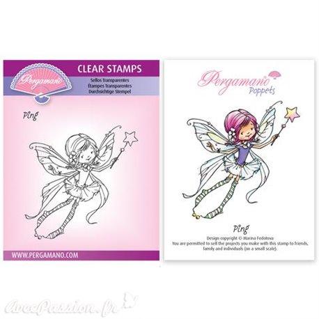 Tampon Pergamano Marina Fedotova clear stamps Ping