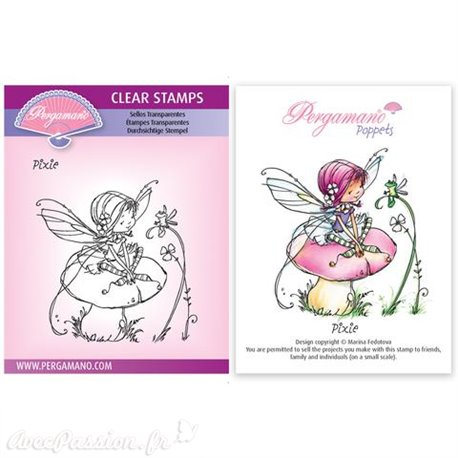 Tampon Pergamano Marina Fedotova clear stamps Pixie