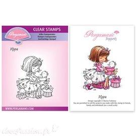 Tampon Pergamano Marina Fedotova clear stamps Pippa