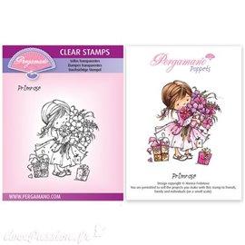 Tampon Pergamano Marina Fedotova clear stamps Primrose