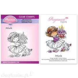Tampon Pergamano Marina Fedotova clear stamps Petunia