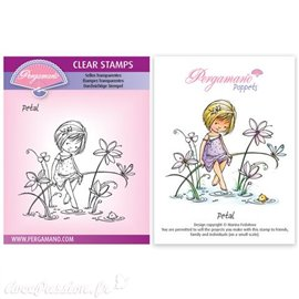 Tampon Pergamano Marina Fedotova clear stamps Petal