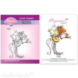 Tampon Pergamano Marina Fedotova clear stamps Polly