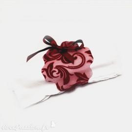 Feuilles créapop Hobbyfun gabarit porte serviette fleur