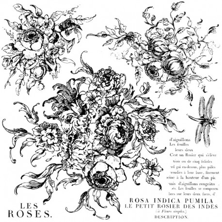 Tampons IOD Clear Stamps Birds Branches and Blossoms 30x30cm