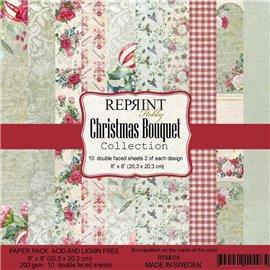 Papier scrapbooking assortiment Reprint Hobby Christmas Bouquet recto verso 20x20 10fe