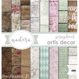Papier scrapbooking assortiment Artis Décor Maderas 1 8fe 30x30