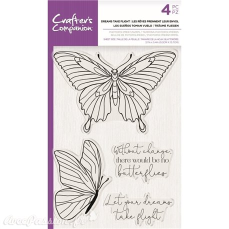 Tampon clear stamps Crafter's Companion Dreams Take Flight 9x14cm