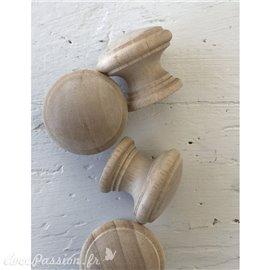 Boutons de meubles en bois 3,2 cm (4 boutons) petit